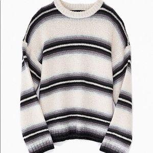 OU Striped Knit Sweater
